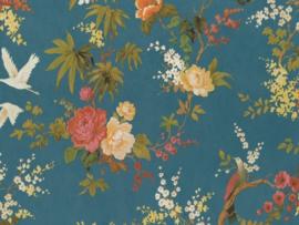 BN Wallcoverings/Voca Fiore Behang 220483 Blooming/Bloemen/Floral/Vogels/Landelijk/Klassiek