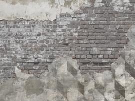 BN Wallcoverings BN Studio Fotobehang 200405 Authentic Bricks/Stenen/Verweerd/Grafisch/Industrieel