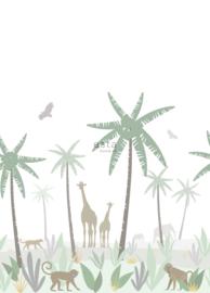 Esta Home Let's Play Behang 153-158928 Jungle Animals/Dieren/Kinderkamer Fotobehang