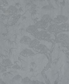 BN Wallcoverings/Voca Zen Behang 220273 Crane Dance/Kraanvogel/Bomen/Takken/Natuurlijk
