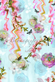 Behangexpresse ColorChoc Behang INK6054 Floral Glitsch/Bloemen Fotobehang