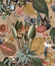 Dutch Wallcoverings/First Class  Utopia Behang 91171 Botanisch/Dieren/Vogels/Toekan/Bloemen/Planten