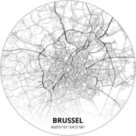 Noordwand Topchic 2021/2023 City Circles Behang Brussel CCB2/Steden/Plattegrond