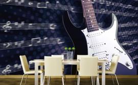Dimex Fotobehang Electric Guitar MS-5-0304 Elektrische Gitaar/Muziek/Notenschrift