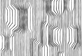 Hookedonwalls Marimekko Behang 23365 Frekvenssi/Grafisch/Modern/Lijnen/Zwart