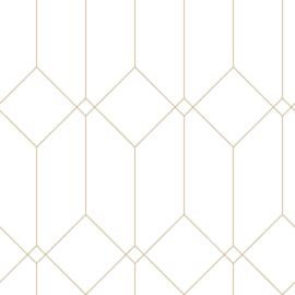 Esta Home Art Deco Behang 156-139223 Modern/Grafisch/Lijnen/Art Deco Motief/Wit/Goud