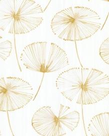 Eijffinger Grenada Behang 367014 Bladeren/Bloemen/Fantasie/Offwhite/Goud