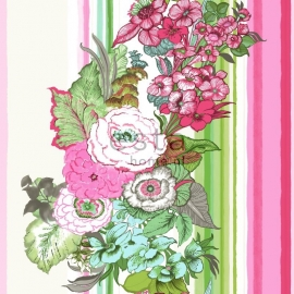 Esta Home Pretty Nostalgie Behang. 138115 Romantisch/Bloemen/Streep/Roze
