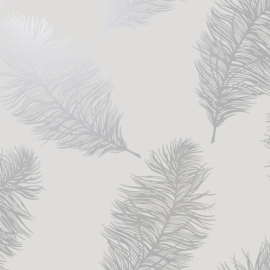 Dutch Wallcoverings Indulgence Behang 12626 Fawning Feather Grey Silver/Veren