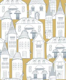 Behangexpresse Havana Behang HA68442 Huizen/Modern/Steden/Geel