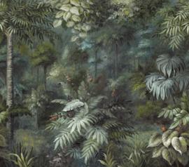 Eijffinger Oasis Fotobehang 317409 Painted Paradise/Flora/Botanisch/Bladeren