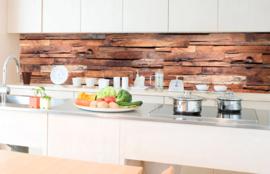 Dimex Zelfklevende Keuken Achterwand Wooden Wall KL-350-063 Hout/3D/Modern/Landelijk