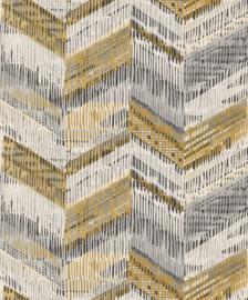Journeys 610801 Chevron Weave Ochre Behang - Arthouse/Atwalls