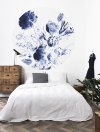 Kek Circle/Wonderwalls CK 002 Romantisch/Bloemen/Cirkel Fotobehang - Dutch Wallcoverings