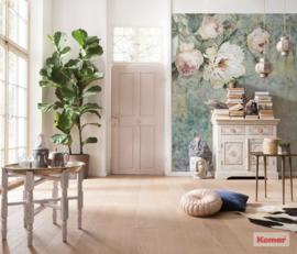 Komar Pure P020-VD2 La Rosa/Bloemen/Romantisch/Vintage/Rozen Fotobehang Noordwand