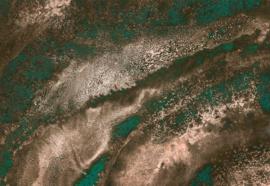 Noordwand Komar Raw Fotobehang RSX8-058 Molten Copper/Gesmolten Koper/Modern/Natuurlijk