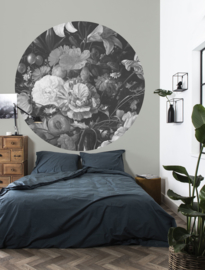 Kek Circle/Wonderwalls CK 009 Romantisch/Bloemen/Cirkel Fotobehang - Dutch Wallcoverings