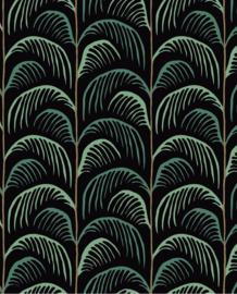 Eijffinger Mini Me Behang 399073 Botanisch/Retro/Plant/Palm/Zwart/Kinderkamer