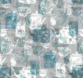 Noordwand Komar Raw Fotobehang R3-030 Tableware/Servies/Theepot/Koffiepot/Modern