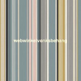 Eijffinger Stripes+  Behang 377111 Strepen/Blauw/Oker
