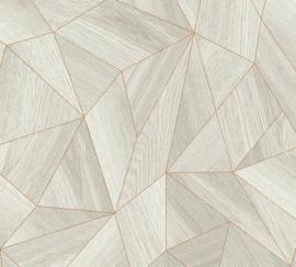AS Creation Elements Behang 36133-2 Hout/Modern/Grafisch/Lijnen