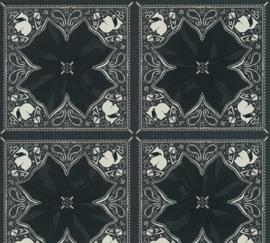 AS Creation Karl Lagerfeld Behang 37845-2 Kaleidoscope/Tegel/Bloem/Logo