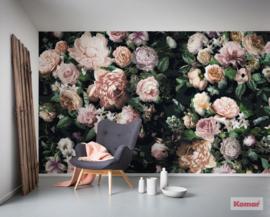 Komar Pure p6035a-vd4 Victoria Black/Botanisch/Bloemen Fotobehang-Noordwand