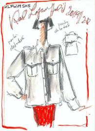 AS Creation Karl Lagerfeld Fotobehang DD120248 Sketch/Mode Schets/Design Blusen