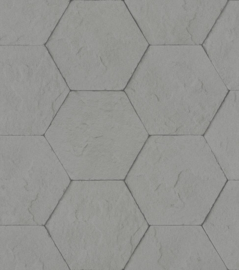 Rasch Brick Lane Behang 427127 Modern/Beton/Hexagon/Industrieel/Grafisch