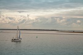 Onsfotobehang Fotobehang MK1149 Natuur/Zee/Zeilboot/Wolken