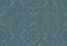 Hookedonwalls Clarence Behang CR3105 Barok/Etnisch/Ornament/Blauw/Goud