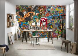 AS Creation AP Digital Behang DD108936 Grafity/Modern/Graffiti/Kleurrijk/Bont Fotobehang