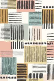 Eijffinger Stripes+  Behang. 377205 Fotowand Painted Patchwork XL