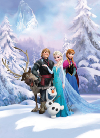 Noordwand/Komar Disney Edition4 Fotobehang 4-498 Frozen Winter land/Anna/Elsa/Kristoff/Kinderkamer Behang