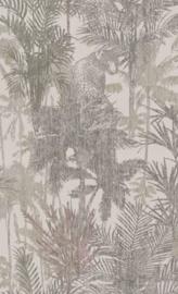 BN Wallcoverings Panthera Behang 220102 Tropical/Botanisch/Bladeren/Panter/Natuurlijk