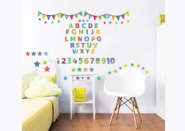 Walltastic ABC Learn with Me 44920 Wall Stickers - Dutch Wallcoverings