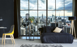 Dimex Fotobehang Manhattan Window View MS-5-0009 Steden/Uitzicht/Ramen/Modern