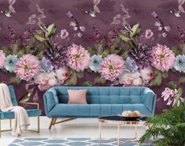 Behangexpresse Floral-Utopia Fotobehang INK7552 Midsummer Dark/Bloemen