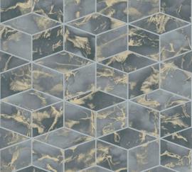 AS Creation Metropolitan Stories II Behang 37863-4 Cubes/Geometrisch/3D/Marmer/Steen/Modern/Geometrisch
