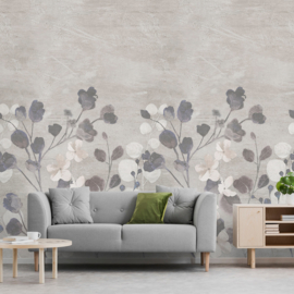 Dutch Wallcoverings One Roll One Motif Behang A41702 Concrete Flower/Bloemen/Beton/Modern