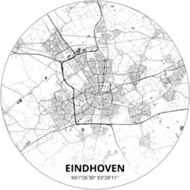 Noordwand Topchic 2021/2023 City Circles Behang Eindhoven CC040 /Steden/Woonplaats/Plattegrond