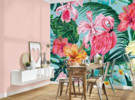 AS Creation Designwalls Fotobehang DD118564 Flamingo Art 1/Vogel/Tropical/Botanical