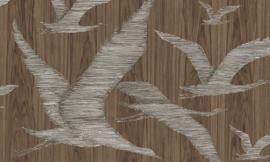 Arte Ligna Behang 42042 Hover/Vogels/Botanisch/Exclusief Wandbekleding