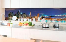 Dimex Zelfklevende Keuken Achterwand Manhattan KL-350-017 Steden/Modern/Panorama Uitzicht
