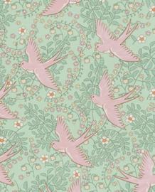 Eijffinger Rice Behang 359022 Vogels/Romantisch/Peuter/Kleuter