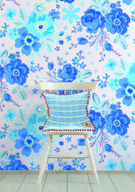 Behangexpresse Happy Living Fotobehang TD4044 Rosita Blue/Bloemen/a Spark of Happiness  Behang