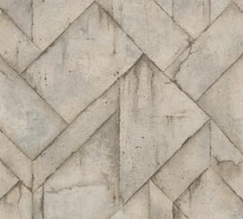 AS Creation Industrial Behang 37741-4 Beton/Grafisch/Industrieel/Modern/Landelijk