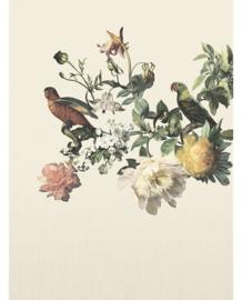 Eijffinger Museum Fotobehang 307401 Big Birds Cream/Botanisch/Klassiek/Vogels/Bladeren/Creme