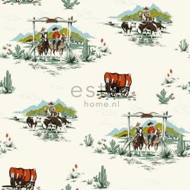 Esta Home Everybody Bonjour Behang. 137-128717 Kinder/Peuter/Cowboy