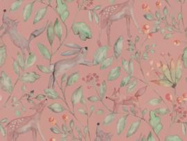 BN Wallcoverings Doodleedo Behang 220702 Catch me if you can/Tropical/Mix & Match/Botanisch/Dieren/Kinderkamer